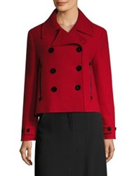 Mcq By Alexander Mcqueen Cropped Virgin Wool Peacoat Bright Red