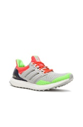 Adidas X Kolor Ultra Boost Shoes In Gray Neon Orange Green
