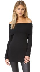 Splendid Off Shoulder Sweater Black
