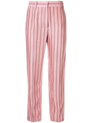 Emilio Pucci Striped Tailored Trousers Pink