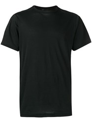 The Viridi Anne Plain T Shirt Black