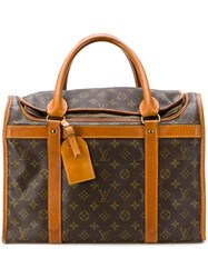 Louis Vuitton Vintage Monogram Travel Bag Brown