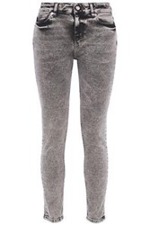Iro Woman Faded Mid Rise Skinny Jeans Anthracite