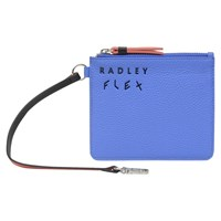 Radley Flex Small Leather Zip Top Coin Purse Blue
