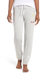 Pj Salvage Embroidered Jogger Lounge Pants H Grey