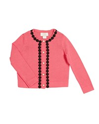 Kate Spade Lace Trim Knit Cardigan Size 2 6X Pink