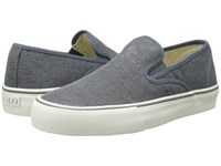 Polo Ralph Lauren Mytton Dark Chambray Vintage Burlap Men's Shoes Gray
