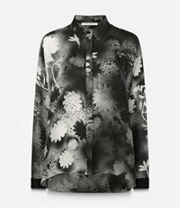 Christopher Kane Printed Button Up Shirt Black