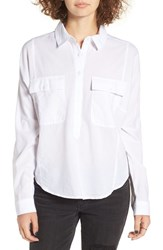 Women's Bp. Long Sleeve Woven Shirt White