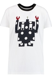 Mother Of Pearl Liber Embellished Cotton Jersey T Shirt White