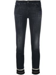 7 For All Mankind Skinny Fit Trousers Women Cotton Polyester Spandex Elastane 28 Black