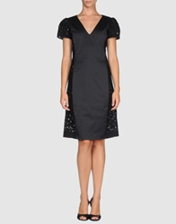 Antonio Croce Short Dresses Black