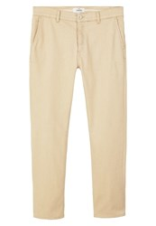 Mango Cobre Relaxed Fit Jeans Sand