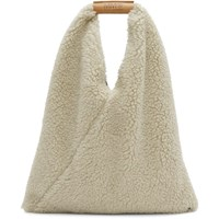 Maison Martin Margiela Mm6 Beige Small Teddy Triangle Bag