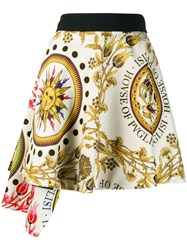 Fausto Puglisi Printed Asymmetric Skirt Yellow