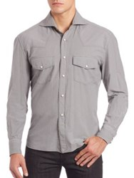 Eidos Double Pocket Long Sleeve Shirt Grey