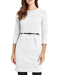 Phase Eight Tabatha Textured Dress Cream Gray