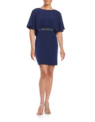 Decode 1.8 Embellished Sheath Dress Navy
