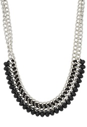 S.Oliver Necklace Black Silver