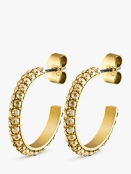 Dyrberg Kern Hosta Swarovski Crystal Hoop Earrings Gold