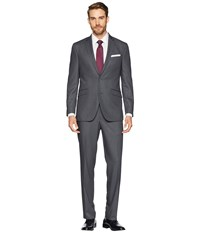 Kenneth Cole Reaction Unlisted Slim Fit Finished Bottom Suit Grey Suits Sets Gray