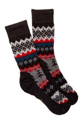 Smartwool Peppermint Delight Charcoal Heather Socks Gray