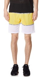 Opening Ceremony Colorblock Mesh Shorts Flash Yellow