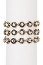 House Of Harlow Cuzco Triple Row Bracelet White