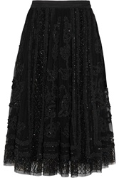 Needle And Thread Ribbon Appliqued Embellished Tulle Skirt