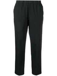 Kiltie Cropped Tailored Trousers Black