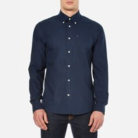 Barbour Men's Stanley Oxford Long Sleeve Shirt Navy