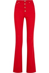Sonia Rykiel High Rise Flared Jeans Tomato Red