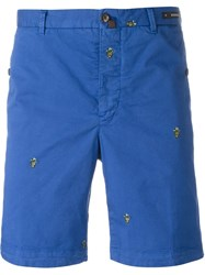 Pt01 Embroidered Shorts Blue