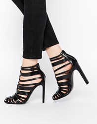 Asos Persuasion Caged Heels Black