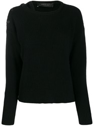 Federica Tosi Long Sleeve Knitted Sweater Blue