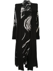 Yohji Yamamoto Abstract Print Shirt Dress Black