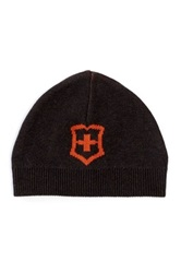 Victorinox Cross And Shield Intarsia Hat Brown
