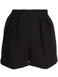 Theory Loose Shorts With Front Pleats Black