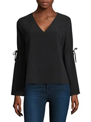 Cooper And Ella Ingrid Bell Sleeve Top Black