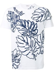 Moncler Tropical Leaf Applique T Shirt White