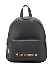 Love Moschino Logo Plaque Small Backpack 60