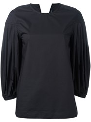 Sofie D'hoore Pleated Sleeves Blouse Black