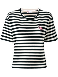 Red Valentino Flamingo Logo Top White