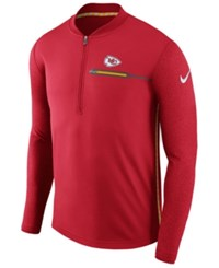 Nike Kansas City Chiefs Coaches Quarter Zip Pullover Red