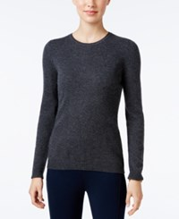 Charter Club Cashmere Crew Neck Sweater Only At Macy's Heather Cinder