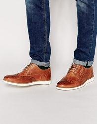 River Island Brogues With Wedge Sole Tan