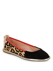 Enzo Angiolini Nation Leopard Print Calf Hair And Suede Flats Leopard Multi