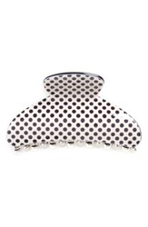 Natasha Pin Dot Jaw Hair Clip White Black