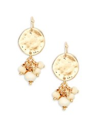 Design Lab Lord And Taylor Berry Beaded Double Drop Earrings Gold