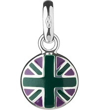 Links Of London Wimbledon Round Union Jack Sterling Silver Charm